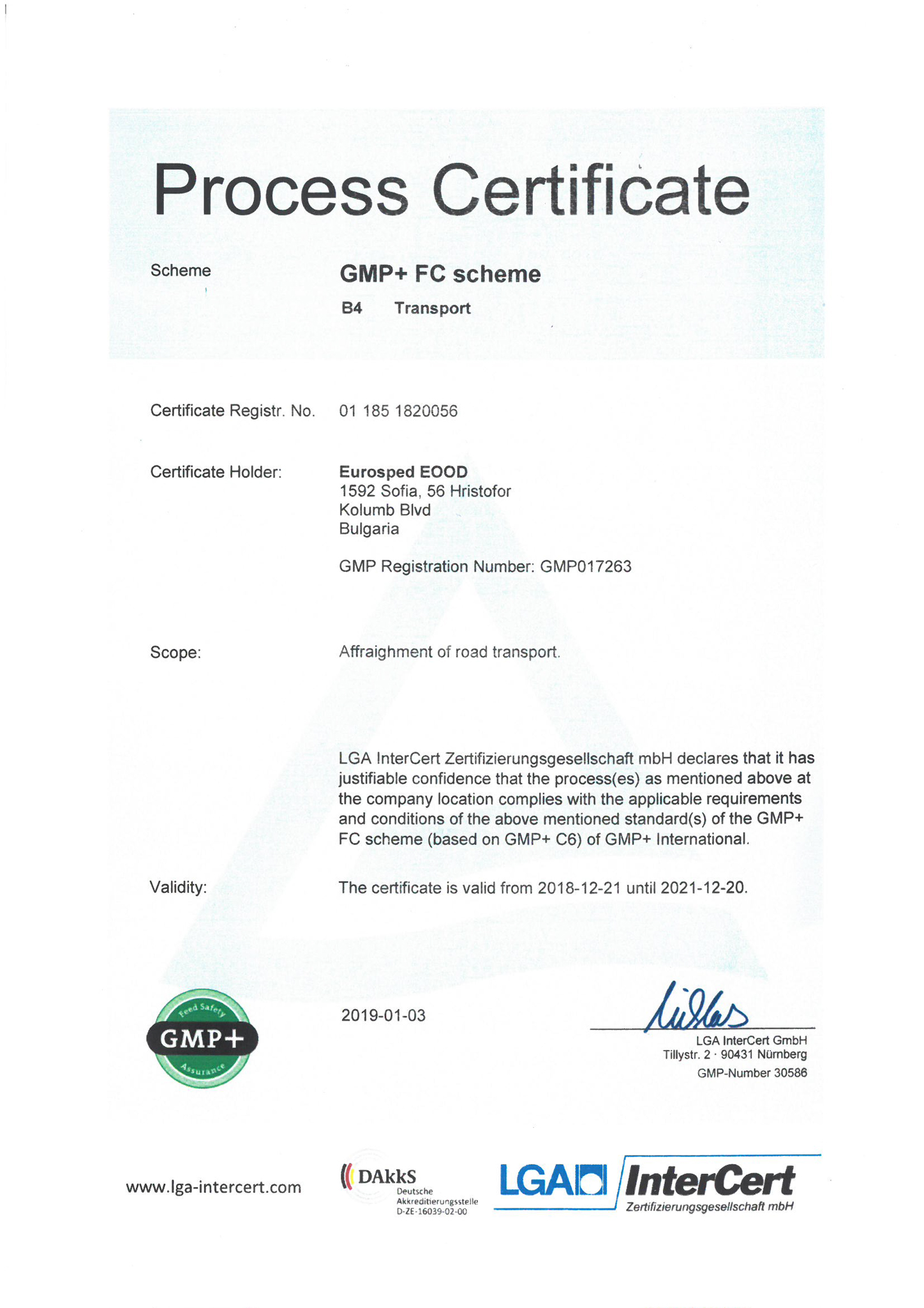 certificate-gmpb4-eurospedeood